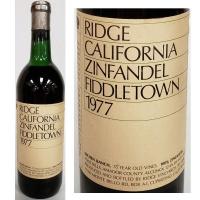 Ridge Fiddletown Amador Foothills Zinfandel 1977
