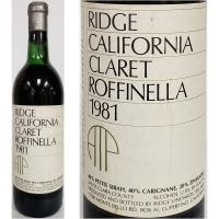 Ridge Roffinella Santa Clara County Claret 1981