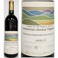 Windsor Winemaster's Private Selection Russian River Merlot 1982