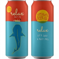 Offshoot Beer Co. Relax Hazy IPA 16oz 4 Pack Cans