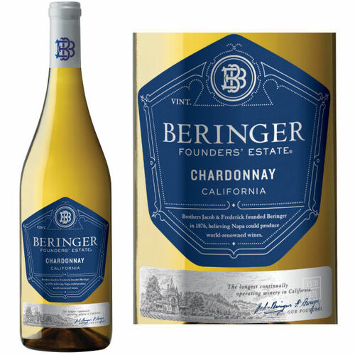 12 Bottle Case Beringer Founders' Estate California Chardonnay