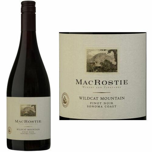 MacRostie Wildcat Mountain Vineyard Sonoma Coast Pinot Noir 2017 Rated 93WE