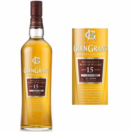 Glen Grant 15 Year Old Batch Strength Rothes Speyside Single Malt Scotch 750ml