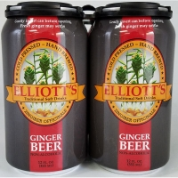 Elliott's Ginger Beer Non-Alcoholic 4 Pack 12oz