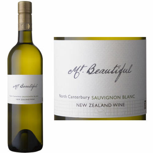 12 Bottle Case Mt. Beautiful North Canterbury Sauvignon Blanc 2019 (New Zealand)