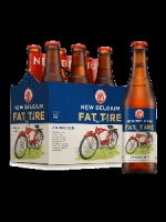 New Belgium Fat Tire Amber Ale 6-pack cold bottles