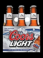 Coors Light six pack chilled bottles