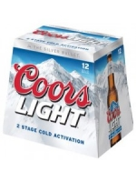 Coors Light 12-pack chilled bottles