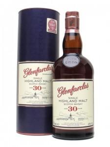 Glenfarclas Single Highland Malt Scotch Whisky Aged 30 Years (older presentation, labeling) 700ml