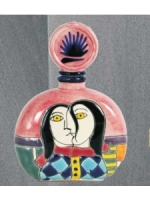 Los Azulejos Tequila Anejo Handmade Picasso Bottle #3 750ml