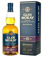 Glen Moray Speyside Single Malt Scotch Whisky Aged 15 Years 750ml