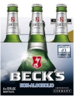 Beck's Non-Alcoholic 6-pack cold bottles
