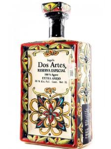 Dos Artes Extra Anejo Tequila 1 Ltr Handmade Bottle