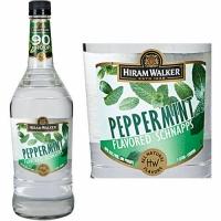 Hiram Walker Peppermint Flavored Schnapps 90 PROOF US 1L