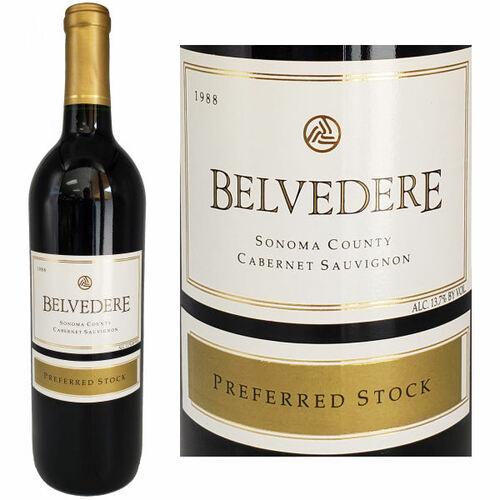 Belvedere Preferred Stock Sonoma Cabernet 1988