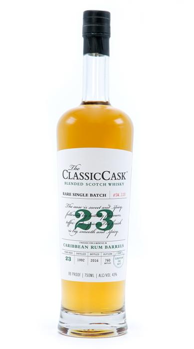 Classic Cask Scotch Single Batch Blended Caribbean Rum Cask 23yr 750ml