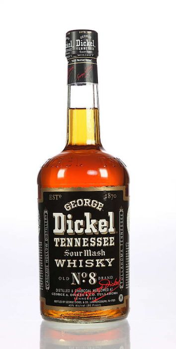 George Dickel Whisky Sour Mash Old No8 Brand Tennessee 750ml