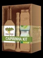Novo Fogo Cachaca Silver Caipirinha Kit 750ml