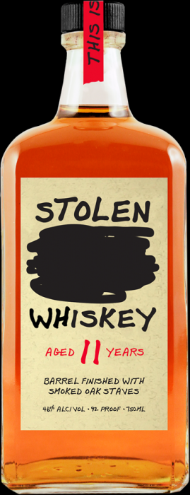 Stolen Whiskey Barrel Finished With Smoked Oak Staves Florida 92pf 11yr 750ml