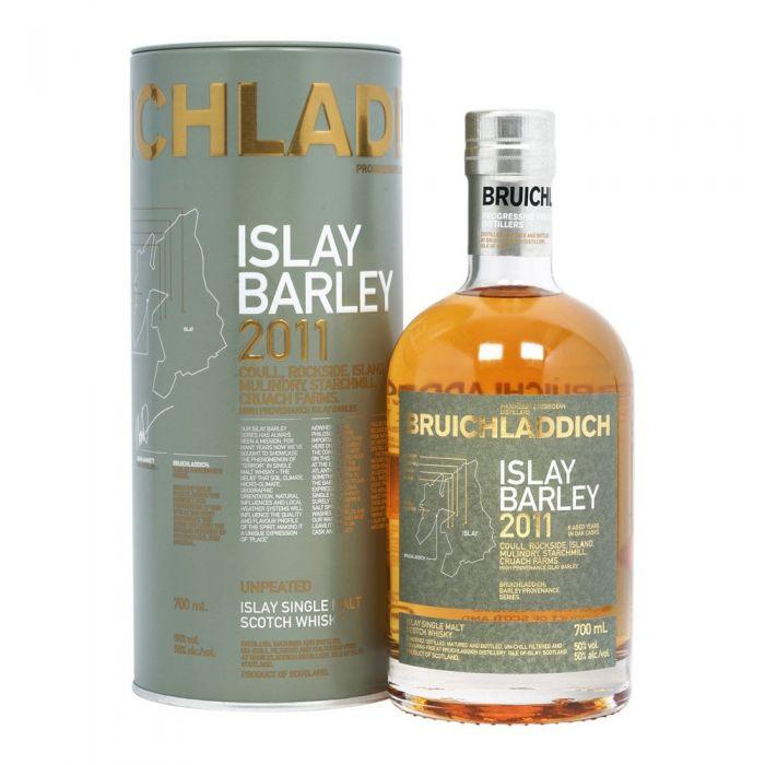 Bruichladdich Scotch Single Malt Islay Barley Unpeated 2011 Dist 100pf 750ml
