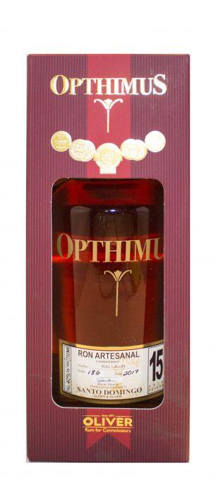 Opthimus Rum Ron Artesanal Dominican Republic 15yr 750ml