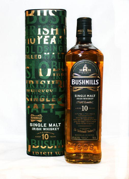 Bushmills Whiskey Single Malt Irish 10yr 750ml