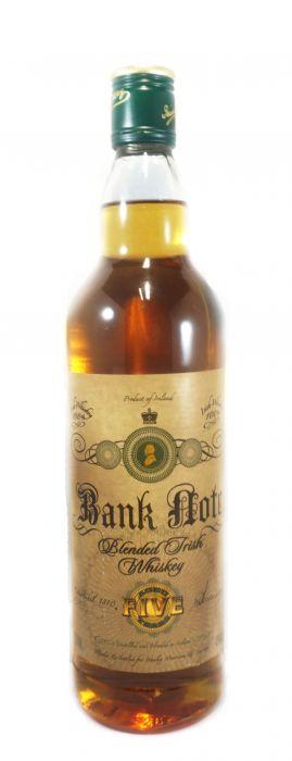 Bank Note Whiskey Blended Irish 86pf 5yr 750ml