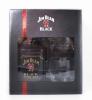 Jim Beam Bourbon Black Extra Aged Gft Pk W/ 2 Rock Glasses 750ml
