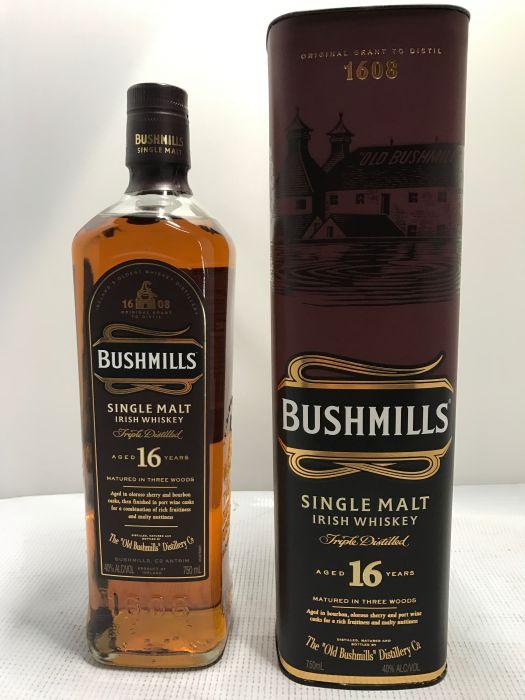 Bushmills Whiskey Single Malt Irish 16yr 750ml