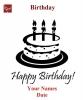 Engraving Happy Birthday #1