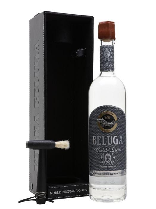 Beluga Vodka Gold Russian Gft Pk 750ml