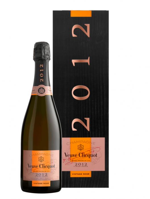 Veuve Clicquot Champagne Brut Rose France Vtg 2012