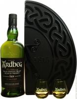 Ardbeg Scotch Single Malt Islay Gft Pk W/ 2 Glasses 92pf 10yr 750ml