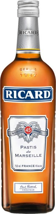 Ricard Anis Pastis De Marseille France 750ml