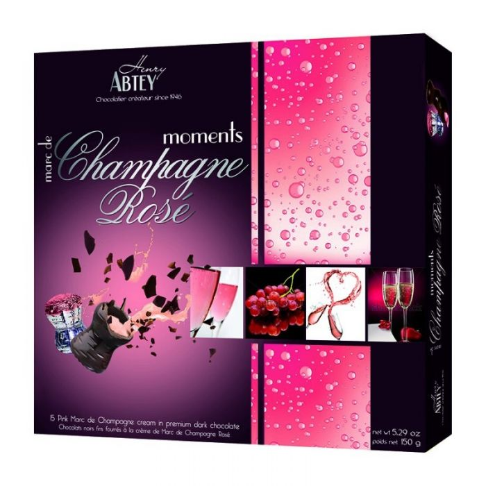 Abtey Moments Champagne Rose Chocolate 150gm