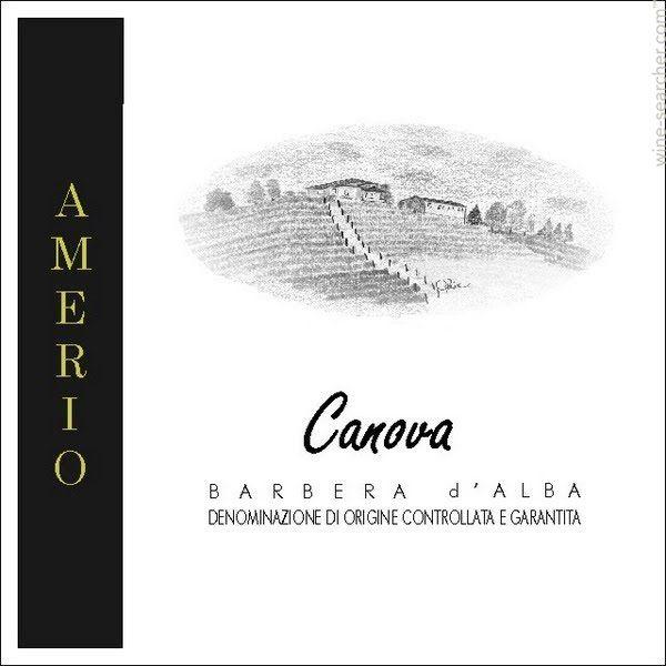 Amerio Canova Barbera D'alba Piedmont Italy 2007