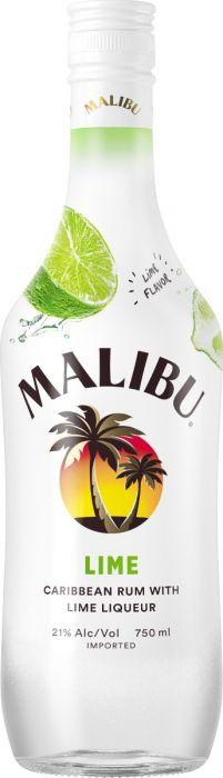 Malibu Rum Lime Liqueur Caribbean 750ml