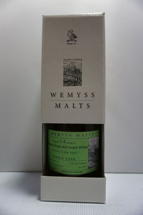 Wemyss Malts Scotch Single Malt Single Cask Speyside Picnic In The Park 92pf 14yr 750ml
