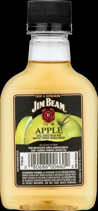 Jim Beam Whiskey Apple Flavor 100ml