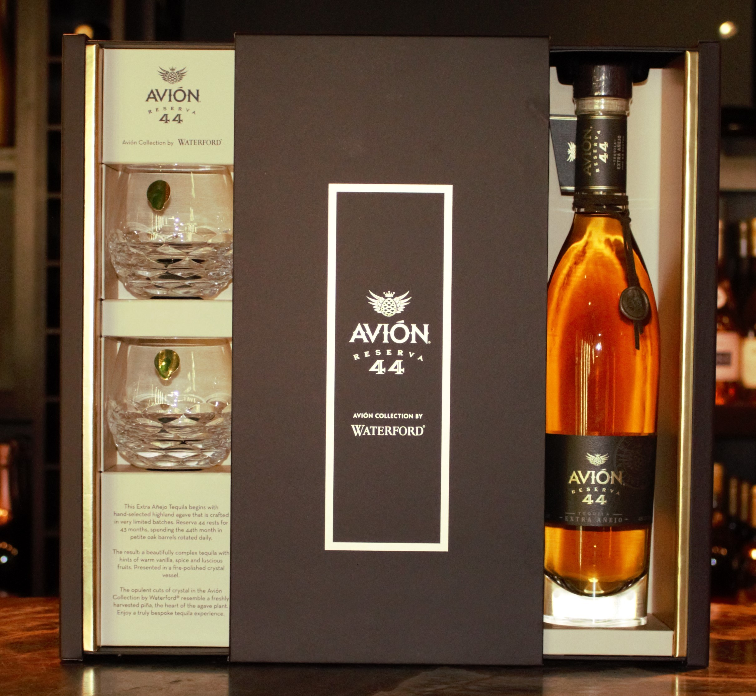 Avion 44 Tequila Extra Anejo Reserve Gft Set W 2 Glasses 750ml Liquor Store Online