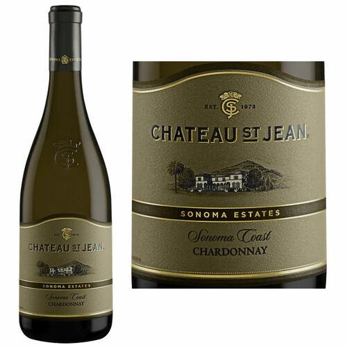 12 Bottle Case Chateau St. Jean Sonoma Coast Chardonnay 2014