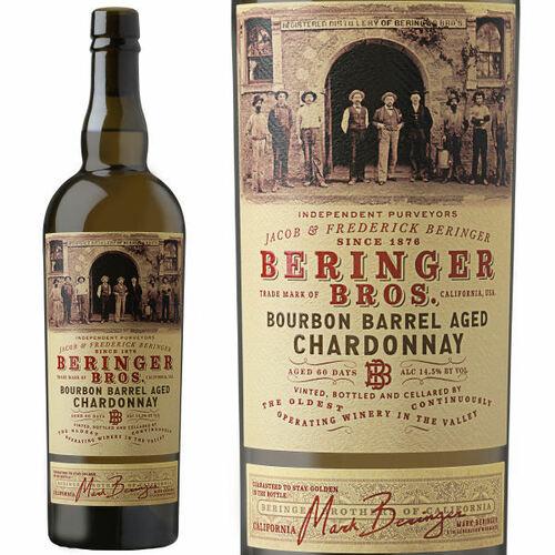 12 Bottle Case Beringer Bros. Bourbon Barrel Aged Chardonnay 2017