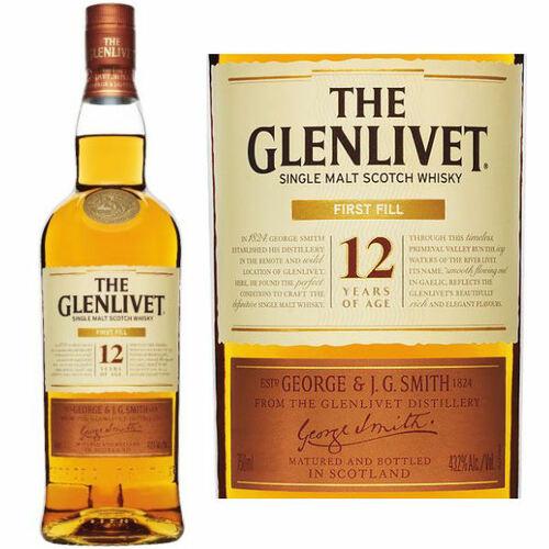 The Glenlivet First Fill 12 Year Old Speyside Single Malt
