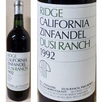 Ridge Dusi Ranch San Luis Obispo Zinfandel 1992