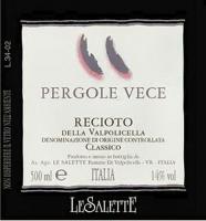 Le Salette Recioto Pergole Vece 2000 500ML (Italy)