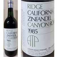 Ridge Canyon Road Sonoma Zinfandel 1985