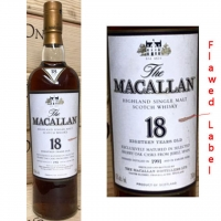 Macallan 1991 18 Year Old Highland Single Malt 750ml