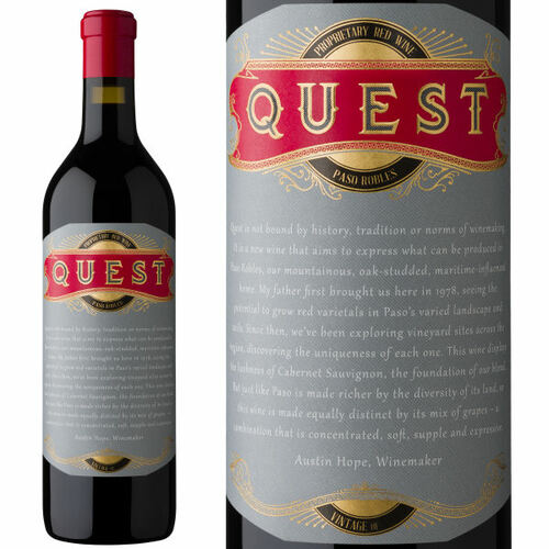 12 Bottle Case Quest Paso Robles Proprietary Red Wine 2018