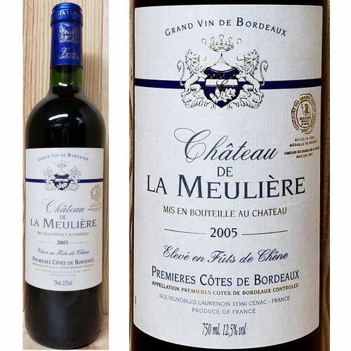 Chateau de la Meuliere Cotes de Bordeaux 2005