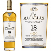 Macallan 18 Year Old Triple Cask Matured Single Malt Scotch 750ml Rated 96-100WE